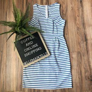 Old Navy Blue White Stripe Pencil Sheath Dress M